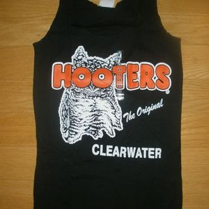 New HOOTERS Girl Uniform Black Tank Clearwater Med